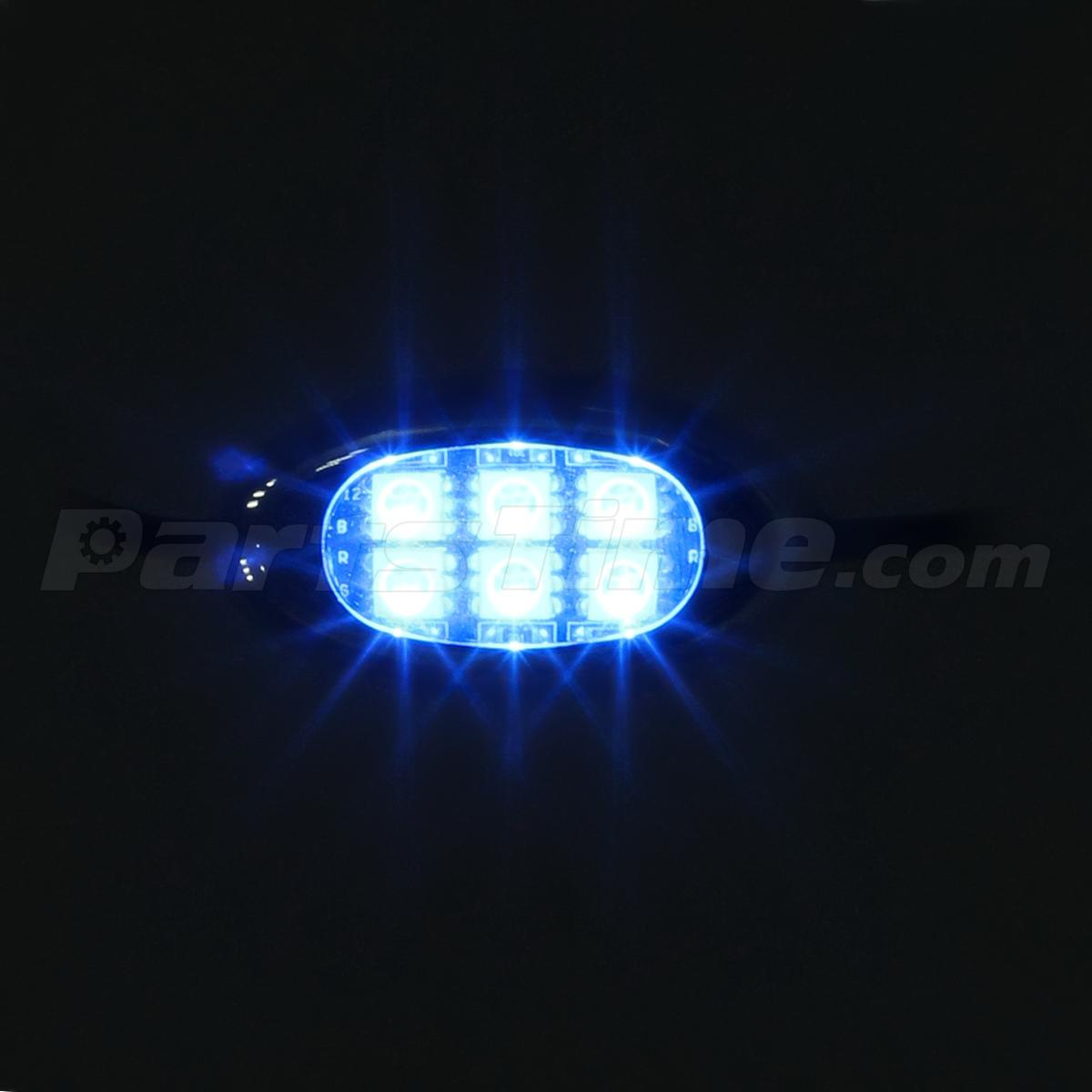 Blue 6 pod motorcycle 36 led underglow neon accent bike lighting kit w switch ebay - Underglow neon ...